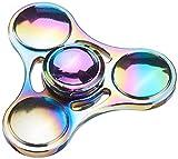 iGearPro Fidget Spinner Tri-Spinner en Alliage de Zinc Jouet Anti-Stress pour la Concentration, la nervosité, Rotation silencieuse, Design Tendance (Colourful)