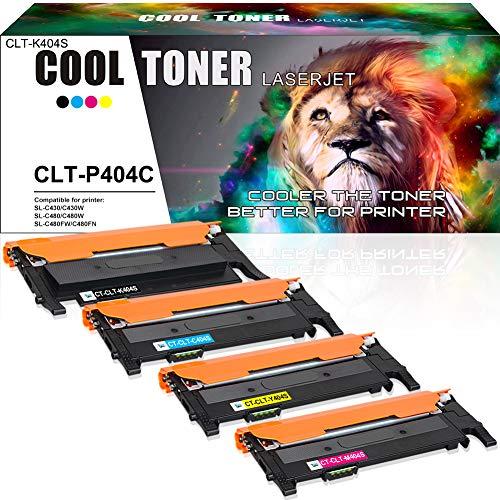 Cool Toner 4 Pack Compatibile CLT-404S CLT-P404C CLT-K404S Cartucce Toner per Samsung Xpress C480FW C430W C430 C480 C480W C480FN C432 C482 Toner Samsung C480FW CLT-C404S CLT-M404S CLT-Y404S Stampanti