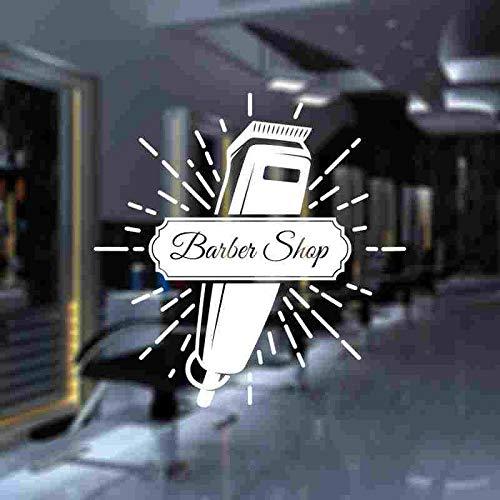 yaonuli Friseur Aufkleber benutzerdefinierte Vinyl Wanddekoration Friseur Rasiermesser Friseur Aufkleber 45X57cm