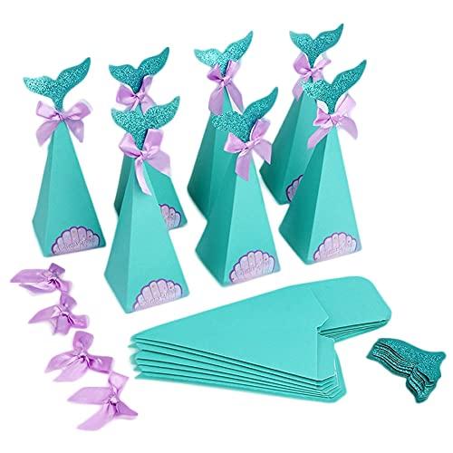 Cajas de Sirenas, Paquete de 20 Cajas de Regalo de Fiesta de...