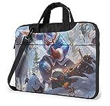 15.6 Inch Laptop Bag, League Legends for Women and Men Laptop Shoulder Bag Shoulder Messenger Bag Case Sleeve, Laptop Sleeve Briefcase, Snow Man Yi Skin
