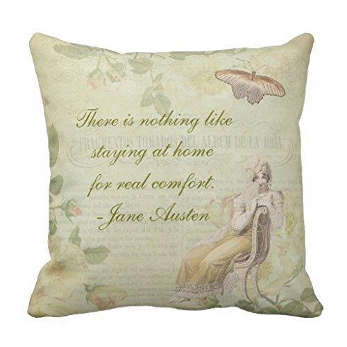 Funda de Almohada Jane Austen Floral