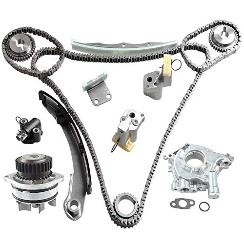 Timing Chain Kit w/Water Pump & Oil Pump Compatible With Nissan Altima Maxima Murano Infiniti FX35 G35 I35 M35 350Z 3.5L V6 DOHC VQ35DE