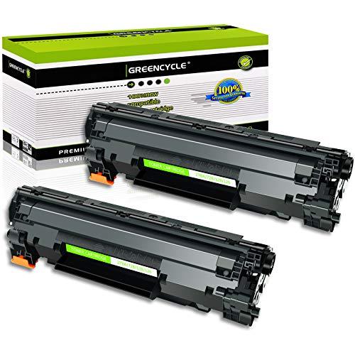 GREENCYCLE 2 PK Black Laser Toner Cartridges Compatible for Canon C128 CRG 128 ImageClass D550 D530 MF4412 MF4580dn