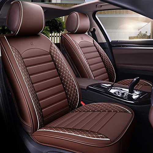 Autositzbezug-Set für 5-Sitzer Automotive Pick Up SUV Truck Kunstleder Sitzschutz Autoinnenausstattung 5 Farben (Braun)