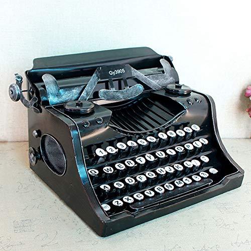 LMIM Modelo de máquina de Escribir Manual clásico Vintage, máquina de Escribir Antigua de decoración para el hogar/Oficina/Escritorio de la Sala de Estudio, no se Pueden Escribir Palabras, Negro