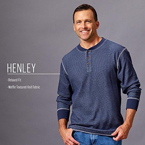 Wrangler Authentics Henley à manches longues pour homme - vert - Taille M