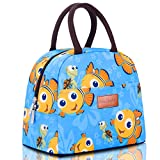 BALORAY Lunch Bag Tote Bag Lunch Bag for Women Lunch Box Insulated Lunch Container (Blue with Goldfish)