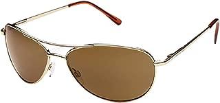 Optics Patrol Metal Alloy Frames Polarized Outdoor Sunglasses/Eyewear - Gold/Brown