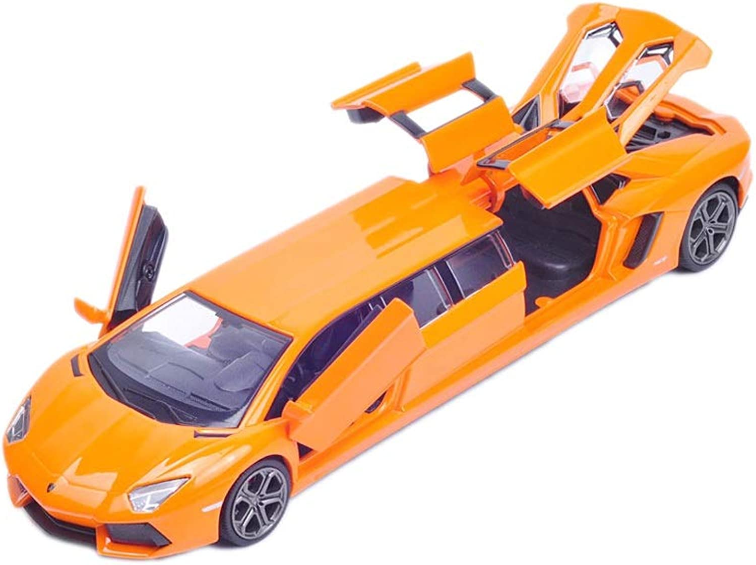 JXXDDQ Car Model Toy Collection Decorative Model 1 32 Extended Version Alloy Car Boy Gift (color   orange)