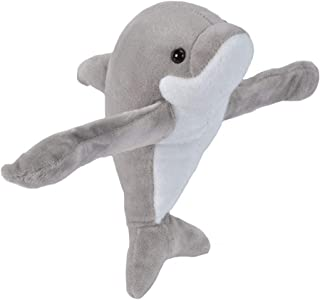 Wild Republic Huggers Hugger Plush Stuffed Animal Toy, Gifts for Kids, Dolphin, 8 Inches