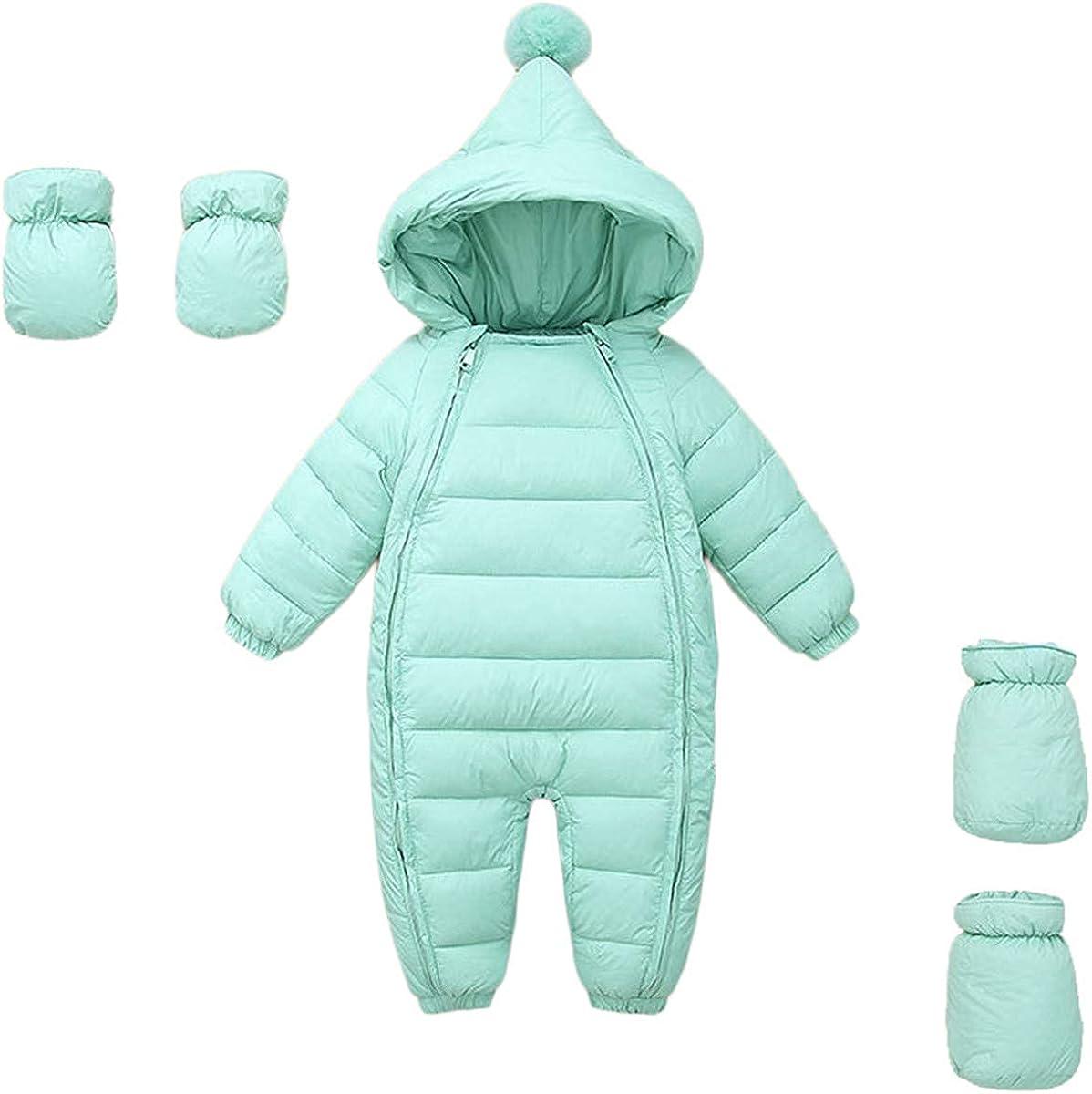 Ohrwurm 3 Pcs Baby Adorable Snow Wear Hoodie Jumpsuit Winter Double Zip Up Snowsuit