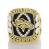 YMQUU Anillo Personalizado de premios de Rugby, Anillo AFC de Denver Mustang 2013, Anillo de Placas de fundición de aleación a Mano, tamaño de Anillo 8-14#