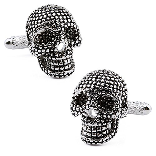 Hawson - Gemelli con teschio nero e set di borchie per smoking – Accessori da uomo per le feste e rame, colore: Only Cuff Links, cod. 90129