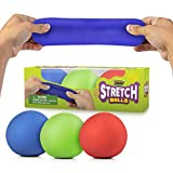 Pull, Stretch and Squeeze Stress Balls by YoYa Toys - 3 Pack - Elastic Construction Sensory Balls - Ideal for Stress and Anxiety Relief, Special Needs, Autism, Disorders and More