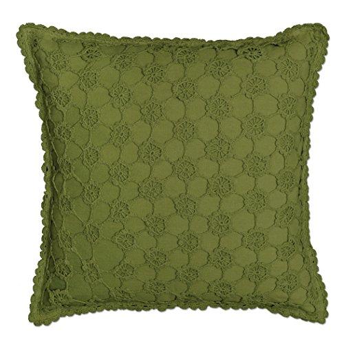 Heritage Envy Kissenbezug mit Spitze, gehäkelt, 45,7 x 45,7 cm, Farn (Perlen)
