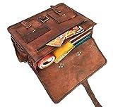 16 'Urbankrafted schöne Vintage Crazy Horse Leder handgemachte Laptop Schulter Umhängetasche - 5
