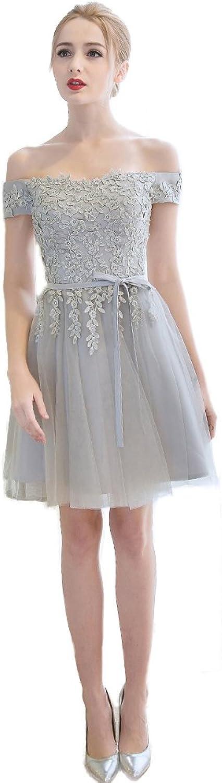 XNAIHUAFEI Womens Fashion Offtheshoulder Knee length Bridesmaid Prom Evening Dresses