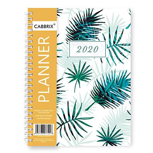 Shiplies - Agenda 2020, settimanale e mensile, formato A5, calendario giornaliero, con 12 linguette mensili, 14,7 x 21,1 cm