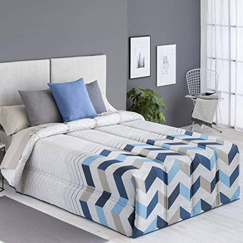 Confecciones Paula - Edredón conforter SOLLER - Cama 90 Cm - Color Azul