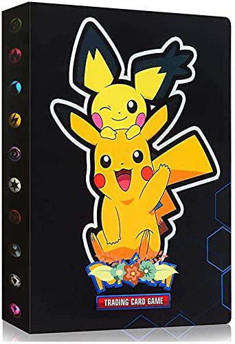 Classeur Compatible Avec Cartes Pokemon, Porte Compatible Avec Cartes Pokemon, Album Titulaire Compatible Avec Cartes Pokemon, 30 pages peut contenir jusqu'à 240 cartes (HS-PIKAQIU)