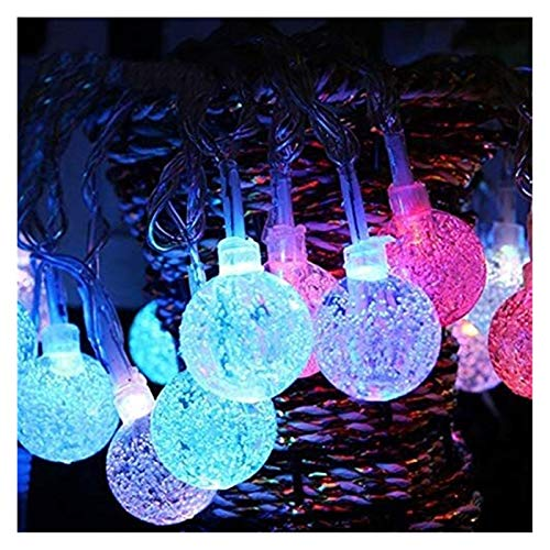 XIAOGING Lighting Garland Lights New Year Christmas Holiday Decoration String Lights Fairy Gypsophila Bubble Ball Lights,Colorful,10m 80leds