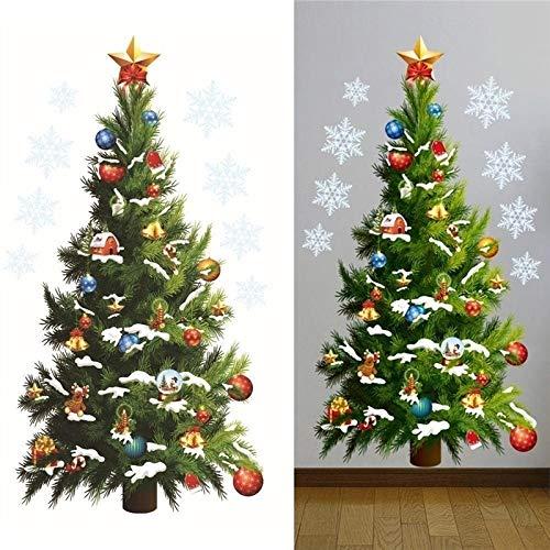 Wandtattoo Fensteraufkleber, Wiederverwendbar Aufkleber, Weihnachten Fenstersticker, Fensteraufkleber PVC Fensterbilder Weihnachten Fensterdeko selbstklebend Fensterfolie Weihnachtsdekoration