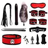 12 Piece Set SM Kit for Couple Adult Secs Suit, Nylon Leather Suit, Bsdm Plush Set,beginner