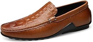 Nouveau Hommes à Enfiler Bout Rond Loisirs Cuir Flats Respirant Conduite Mocassins Chaussures