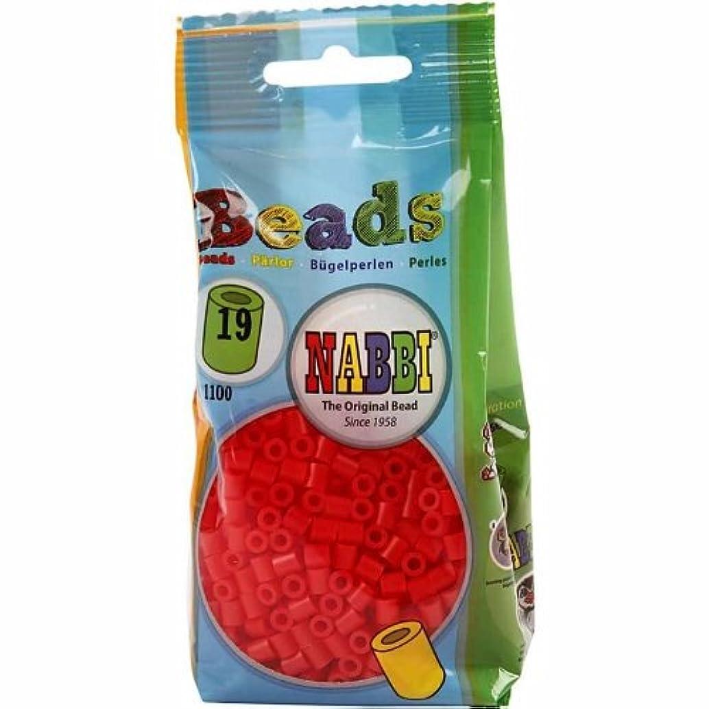Nabbi Melting Beads ~? 5 x H 5 mm 1.100 pcs. red #19, 1100-Piece