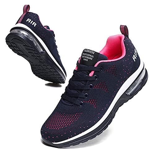 BUBUDENG Femme Basket Chaussures de Sport Running...