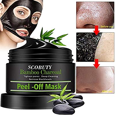 Charcoal Face Masks,Charcoal Peel Off Mask,Blackhead Face Mask Peel Off,Face Peel Mask,Blackhead Mask,120ml Peel Off Black Face Mask from Scobuty