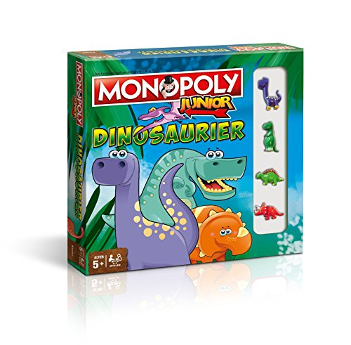 Winning Moves - 44819 - Monopoly Junior Dinosaurier | Deutsch | Kinder Spiel | Brettspiel | Gesellschaftsspiel