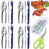 Crab legs crackers and tools, Angela&Alex 14 PCS Seafood Tools Set 4 Crab Crackers, 4 Lobster...
