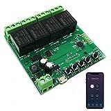 Newgoal Módulo de relé de interruptor inteligente WiFi de 4 canales, la aplicación TUYA/Smart...