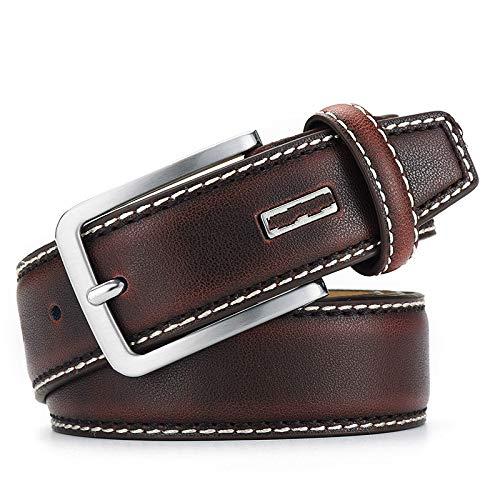 Nonebranded Gürtel Fashionable Men's Leather Belt Luxury Designer Vintage Belt Jeans