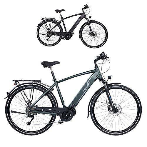 Fischer Herren – E-Bike Trekking VIATOR 4.0i, schwarz oder grün matt, 28 Zoll, RH 50 cm, Mittelmotor 50 Nm, 48 V Akku im Rahmen
