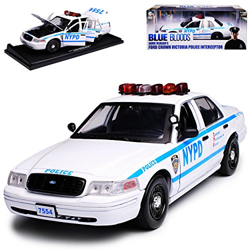 Greenlight Ford Crown Victoria Police Interceptor NYPD New York Police Blue Bloods 1/18 Modell Auto