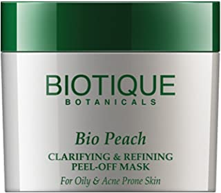 Biotique Bio Peach Clarifying & Refining Peel-Off Mask For Oily & Acne Prone Skin, 50G