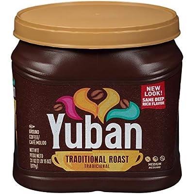 Yuban Traditional Medium Roast Ground Coffee ( oz Canister), Original Version Traditional Roast, 31 Ounce