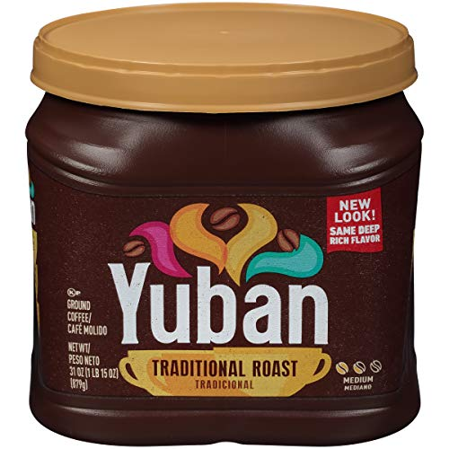 Yuban Traditional Medium Roast Ground Coffee  oz Canister Original Version Traditional Roast 31 Ounce