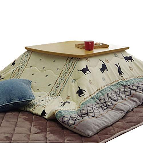 Balkon Erker Fenstertisch Japanischer Kotatsu-Tisch Winterheiztisch Tatami Couchtisch Einstellbare Temperatur (Color : Weiß, Size : 78cm(Walnut))