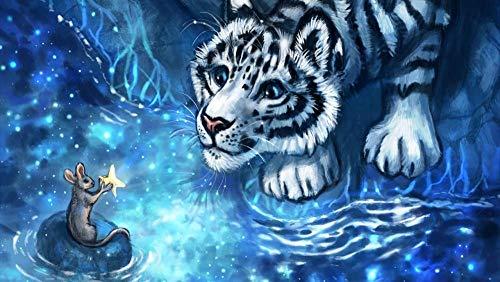 XYDH Puzzle 1000 Piezas Adultos - Tiger Mouse Cub Animali Carino para Adultos NiñOs, Educational Game para Aliviar EstréS Juego Intelectual, Juguete De Regalo Ideal/75 * 50CM