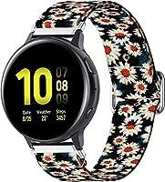 時計バンド コンパチブル Polar Vantage M (ポラール バンテージ M) ウォッチストラップキャンバス 交換用ウォッチバンド幅 (22mm, Pattern 7)