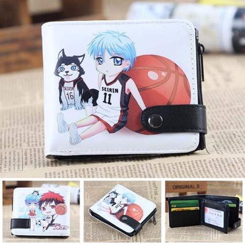 DMWSD Wallet Men's and Women's Short Kuroko's Basketball Anime Game Characters Kuroko Tetsuya Two Yuan Cartoon Anime Coin Purse Storage Bag Card Bag Daily Necessities Collection