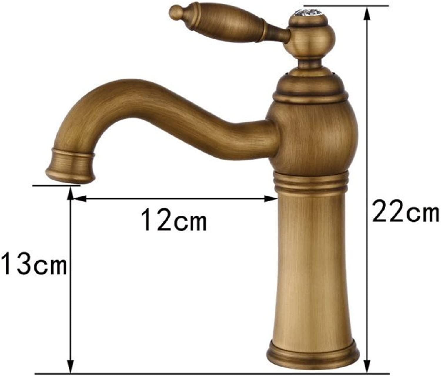 GZF Faucet European antique washbasin faucet retro hot and cold faucet bathroom sink swivel faucet