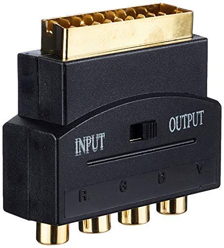 InLine 89953C Scart Adapter, Scart Stecker an 4x Cinch Buchse (RGB+Composite)