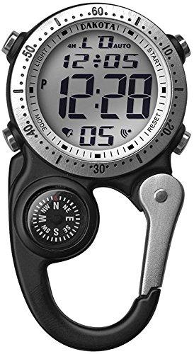 Dakota Watch Company Digi Clip Watch, Black