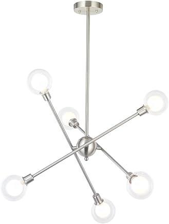 Amazon.es: lamparas techo cristal - Cromo / Iluminación de ...