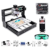 Vogvigo 2-in-1 CNC 3018 Pro Laser Engraving Machine with 10000 Laser Module, CNC Router Kit GRBL Control 3 Axis DIY Mini Laser Engraver for Wood PCB PVC Plastic Acrylic, Milling Area 300x180x45mm